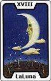 Carta del tarot La Luna